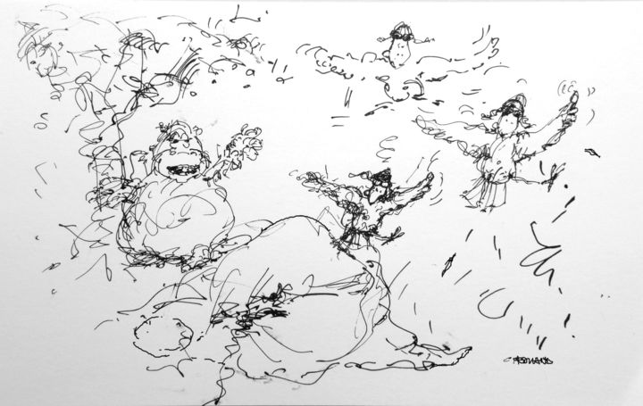 marula 6 - Drawing, ©2009 by CHRISTIAN ROLLAND -                                                                                                                                                                                                                                                                                                                                      dessins, croquis de préparation, stylo, drawing, sketch, search, inkpoint