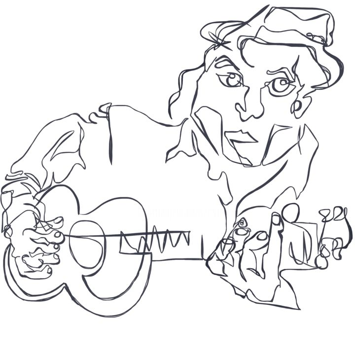 """Drawing titled """"Player"""" by Catherine Stroud, Original Art, Digital Photography"""