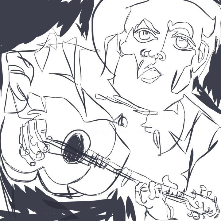 """Drawing titled """"Sing It!"""" by Catherine Stroud, Original Art, Digital Photography"""