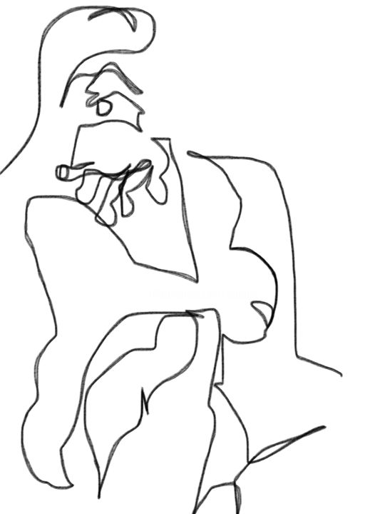 """Drawing titled """"Self"""" by Catherine Stroud, Original Art, Digital Photography"""