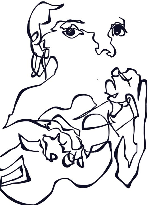 """Drawing titled """"Spot On"""" by Catherine Stroud, Original Art, Digital Photography"""