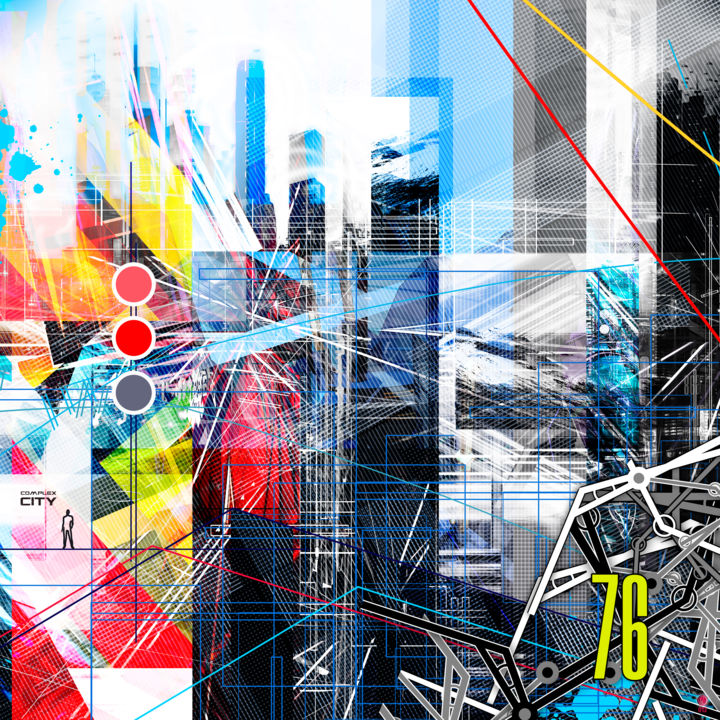 complexcity-07 - Digital Arts, ©2013 by Christophe Martel (zenn) -                                                                                                                                                                                                                          Abstract, abstract-570, Aluminum, Architecture