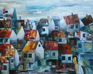 """Painting titled """"The City with the T…"""" by Thuroe, Original Art,"""