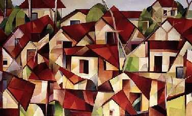 """Painting titled """"Houses After Rain"""" by David Ross, Original Art,"""