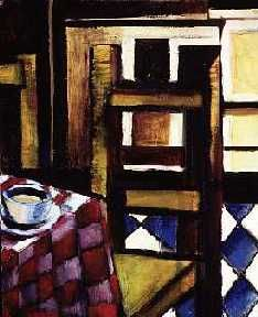 """Painting titled """"Cafe"""" by David Ross, Original Art, Oil"""