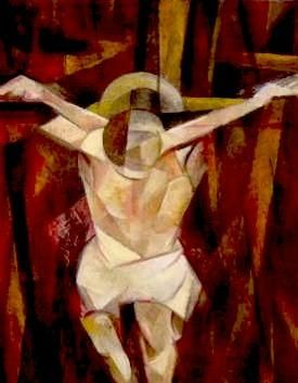 """Painting titled """"crucfixion"""" by David Ross, Original Art, Oil"""