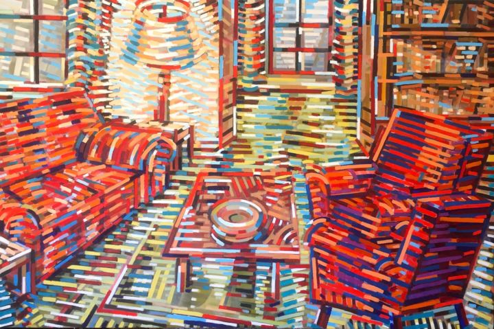 """Painting titled """"Interior"""" by David Ross, Original Art, Oil"""