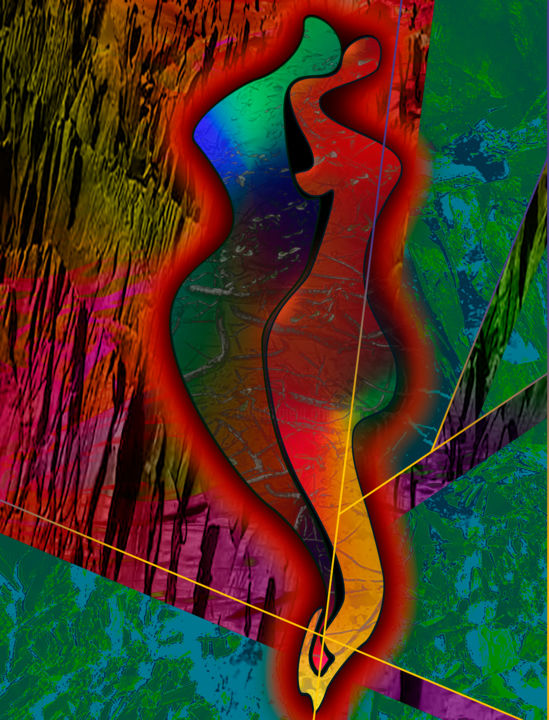 """Painting titled """"experiment.5.b.9.2…"""" by Curtis Doll, Original Art, Digital Painting"""