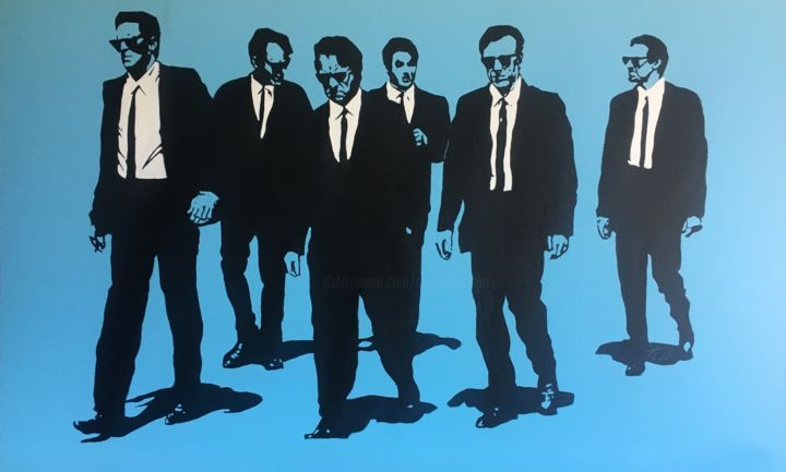 Reservoir Dogs - Peinture,  23,6x39,4x0,4 in, ©2019 par Yvan Courtet -                                                                                                                                                                                                                                                                                                                  Pop Art, pop-art-615, Cinéma, Reservoir Dogs, Quentin Tarantino, Bill Buscemi