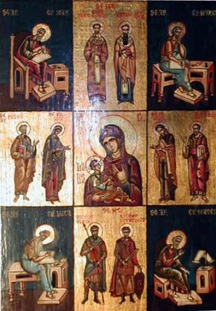 THE MOTHER OF GOD WITH SAINTS