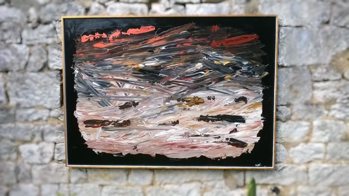 WAR - Peinture,  1,6x39,4x55,1 in, ©2015 par Cyl Van Oycke -                                                                                                                                                                                                                                                                      Abstract, abstract-570, Art abstrait, guerre, couleur