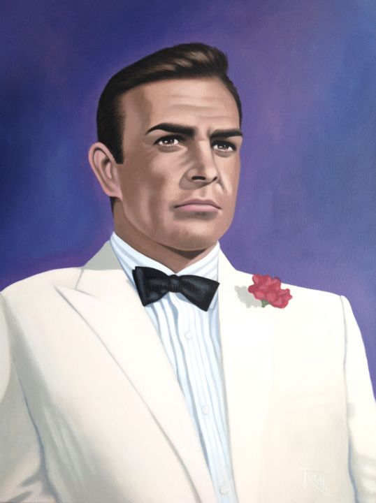 Sean Connery Painting By Czart Artmajeur
