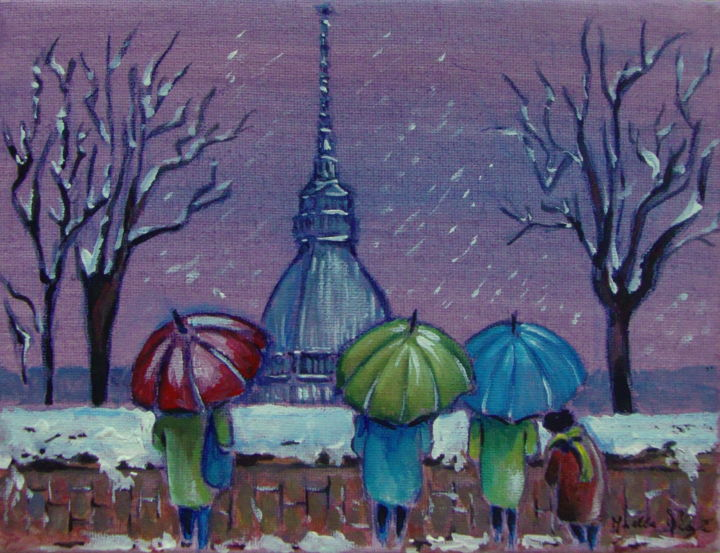 """Painting titled """"SOTTO LA NEVE"""" by M.D-Agostino, Original Art, Acrylic"""