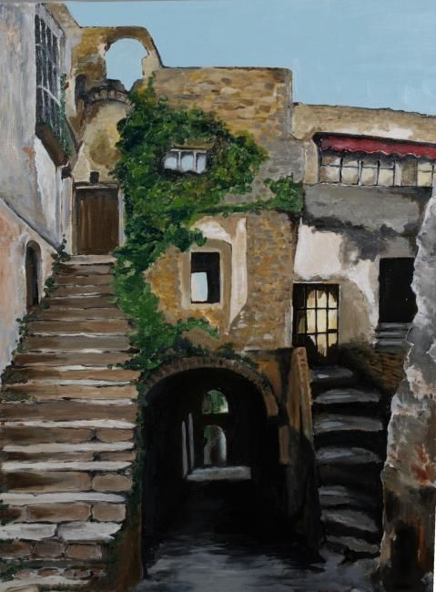 BUSSANA - Painting,  70x50 cm ©2004 by M.D-Agostino -