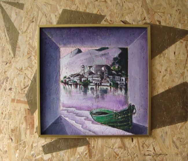 SAN GIULIO D'ORTA - Painting,  70x60 cm ©2010 by M.D-Agostino -