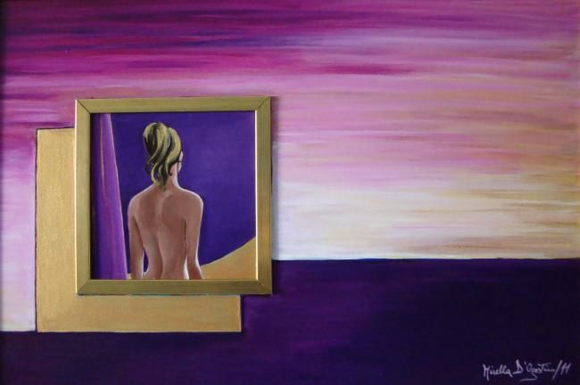 INFINITO DENTRO - Painting,  66x46 cm ©2011 by M.D-Agostino -