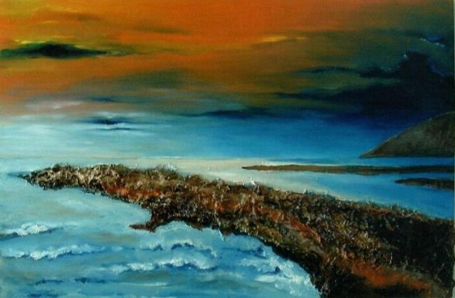 ORIZZONTI - Painting,  78x58 cm ©2011 by M.D-Agostino -