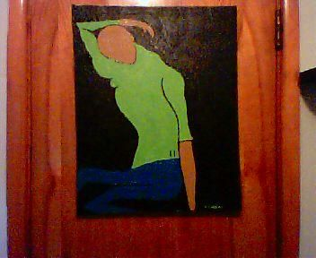 """Painting titled """"Chica"""" by Carl Dabbah, Original Art, Oil"""