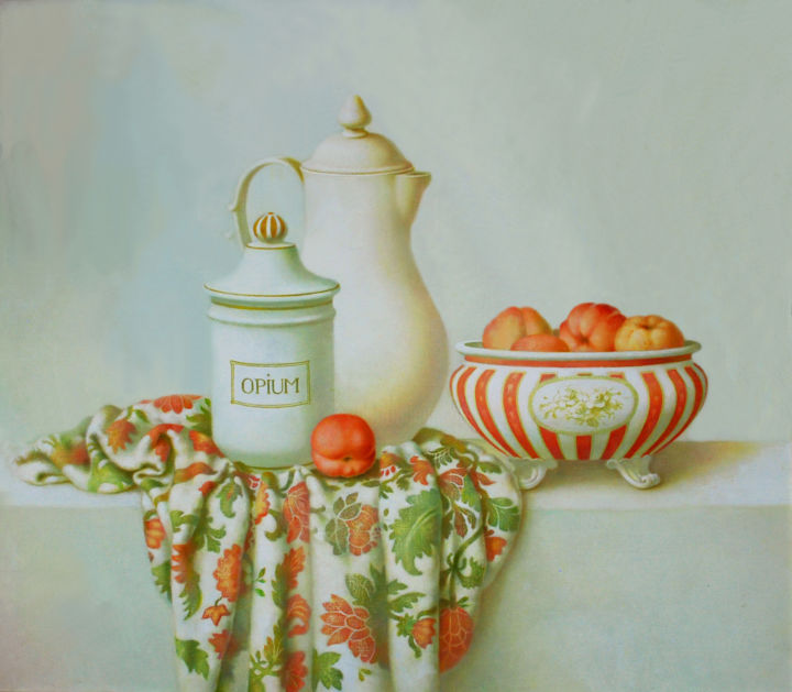 """Painting titled """"Still life painting…"""" by Dace Lapina, Original Art, Oil"""