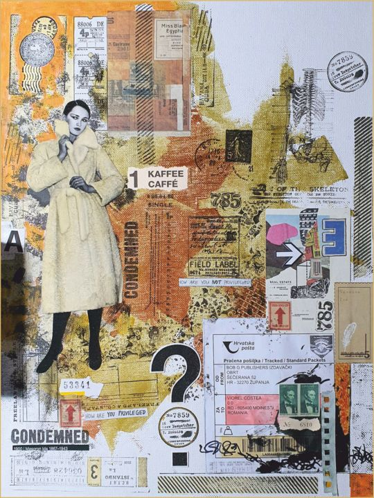 """Collages titled """"Tickets for a new r…"""" by Viorel Florin Costea (DadaVFC), Original Art, Collages"""