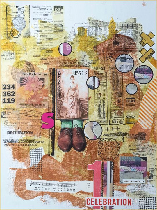 """Collages titled """"Tickets for a new c…"""" by Viorel Florin Costea (DadaVFC), Original Art, Collages"""