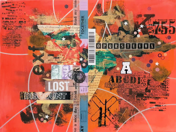 """Collages titled """"Lost discount"""" by Viorel Florin Costea (DadaVFC), Original Art, Acrylic"""
