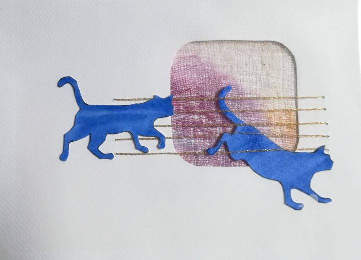 gatto9.jpg - Painting, ©2018 by DADE -