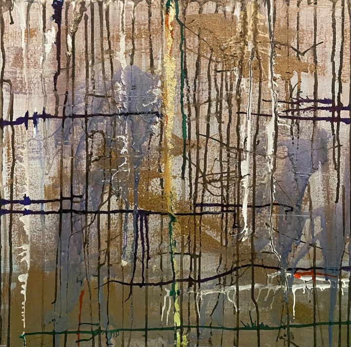 """Painting titled """"Forest"""" by Daiva Karaliute, Original Art, Acrylic Mounted on Stretcher frame"""