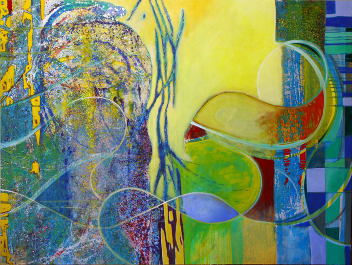 Travels with my Cat, 150 x 200 cm. - ©   Online Artworks