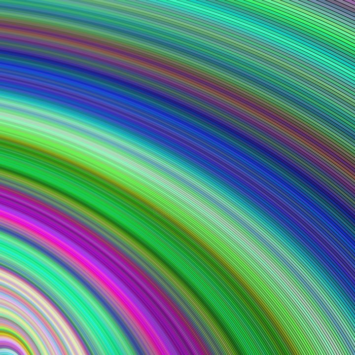 Rainbow curl - Digital Arts ©2018 by Dan Burris -                        Abstract Art