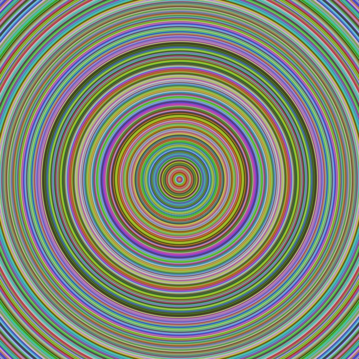 Circular Rainbow - Digital Arts ©2019 by Dan Burris -                        Abstract Art