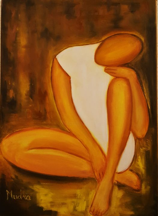 Solitude - Painting,  70x50 cm ©2017 by Dana Art -