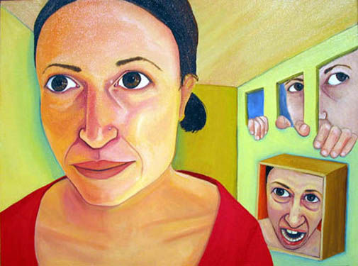 Self Portrait - Painting ©2002 by Dana Ellyn Kaufman -