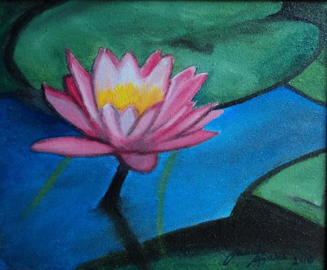 Lotus Flower Painting By Danar Artmajeur