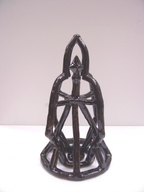 """Sculpture titled """"Martyrdom's cage"""" by Robert Keith, Original Art,"""