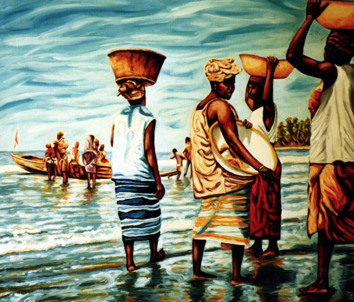 Fresh Fish From The Sea Africa Africa Paintings