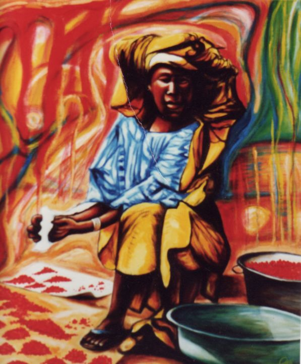 African Berry Woman At Market Place Dan Civa