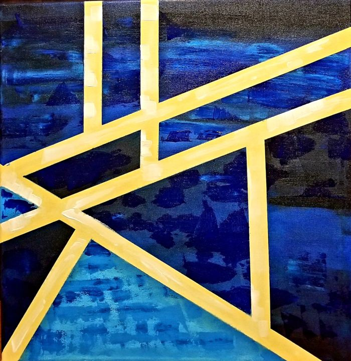 """Painting titled """"Blue"""" by Dhan, Original Art, Acrylic"""
