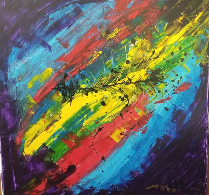 """Painting titled """"Hopeful"""" by Dhan, Original Art, Acrylic"""