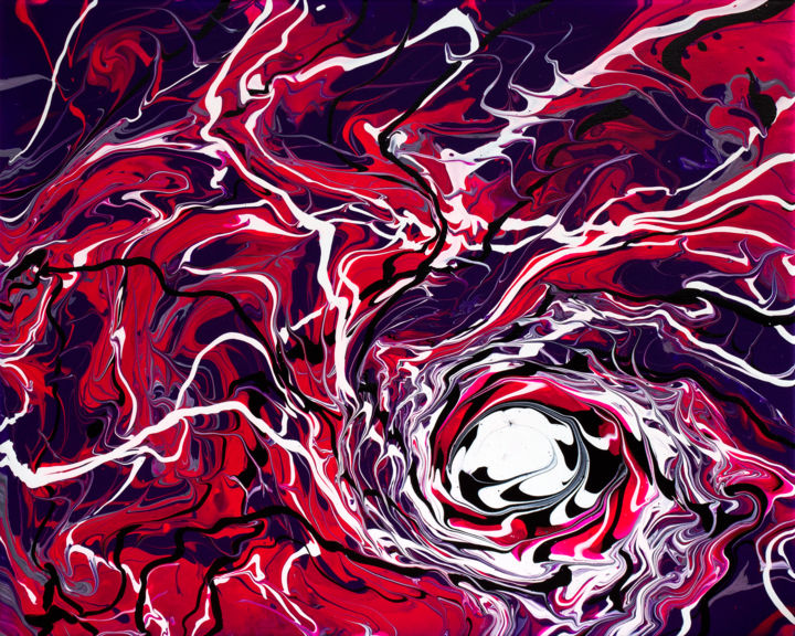 """Painting titled """"Down The Rabbit Hole"""" by Daniel Clayton, Original Art, Acrylic"""