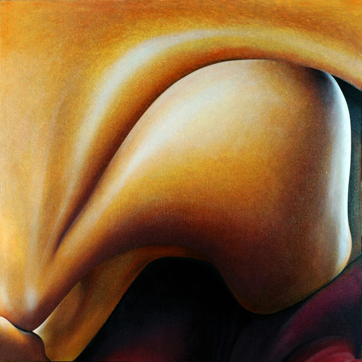 imagine que c'est le cas ! - Painting,  100x100 cm ©2013 by Daniel Moline -                                                            Figurative Art, Canvas, Body, étude de corps