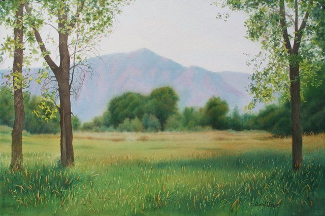 """Painting titled """"Flatirons from Dry…"""" by Daniel Dayley, Original Art, Oil"""