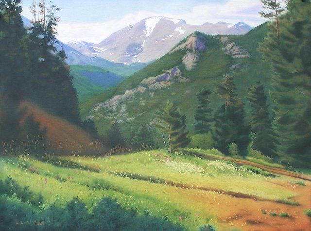 """Painting titled """"Rocky Mountain Gran…"""" by Daniel Dayley, Original Art, Oil"""