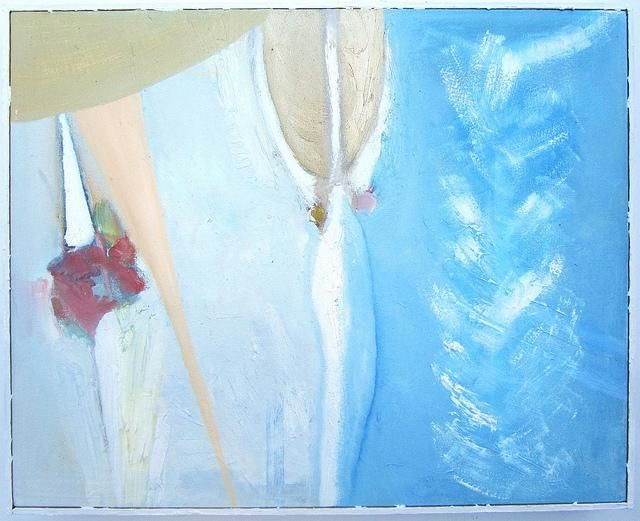 Lysistrata - Painting,  20x15 in ©2003 by Daniel Kerkhoff -                            Abstract Art, Abstract figurative painting