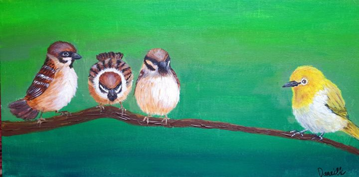 """Painting titled """"Same but Different"""" by Danielle Siauw, Original Art, Acrylic"""