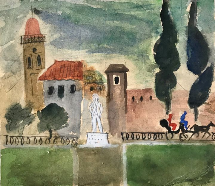 """Painting titled """"Untitled 26"""" by Danil (Panagopoulos), Original Art, Watercolor"""