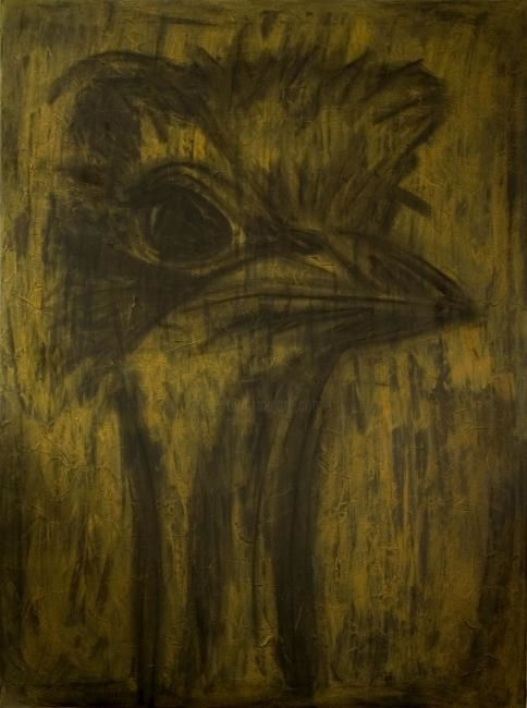 """Painting titled """"Ostrich"""" by Danni, Original Art,"""
