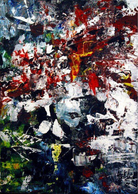 Painting,  33 x 46 cm ©2005 by Danny ded -  Painting, Abstract Expressionism, expressionnisme abstrait