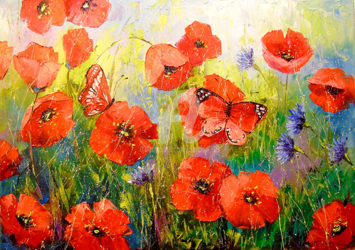 Poppies and butterflies (OLHA)