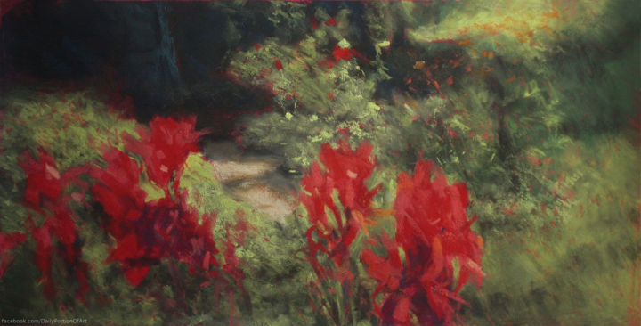 """Painting titled """"After the rain"""" by Daria Kucharczyk, Original Art, Pastel"""